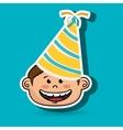 boy party hat cartoon vector image