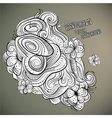 floral abstract hand drawn design vector image