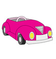 pink convertible vector image vector image