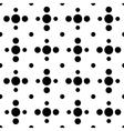 Black and white cross polka dot seamless pattern vector image