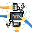 Interconnection Business Processes vector image