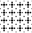 Black and white cross polka dot seamless pattern vector image