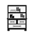 bookshelf furniture icon image vector image