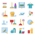 cleaning service symbols different colored tools vector image