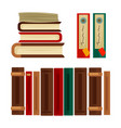 different books and covers vector image