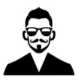 Hipster Fashion Man Hair Glasses and Beards vector image