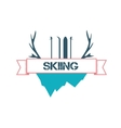 Logo design for skiing vector image