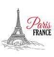 paris france hand sketched vector image