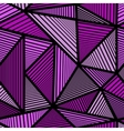 Pattern with purple triangle vector image