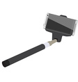 Selfie stick with smartphone vector image
