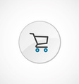 shopping cart icon 2 colored vector image