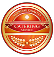 Catering Service Label vector image vector image