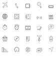 Application line icons with reflect on whiteSet 2 vector image