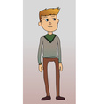 Man in cardigan blonde casual vector image