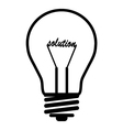 bulb solution vector image