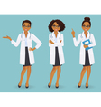Set of three female doctors vector