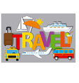 badges for travel concept vector image