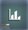 Chart icon symbol on the blue-green abstract vector image