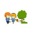 happy kids children play vector image