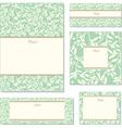 vector green ivy frame set vector image