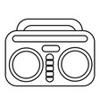 vintage boombox icon  outline style vector image