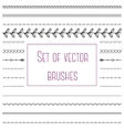 Set of simple brushes vector image vector image