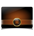 Brown vip card vector image vector image