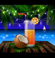 coconut tropical nut background vector image vector image