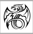 dragon logodragon logo template vector image