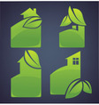eco cottages vector image vector image