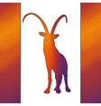 goat isolated on white background vector image
