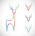 image of an deer vector image