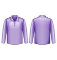 Purple shirt vector image