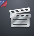 Cinema Clapper icon symbol 3D style Trendy modern vector image