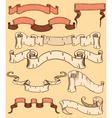 set of ribbon old style vector image vector image