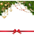 Christmas tree branches on white EPS 10 vector image vector image