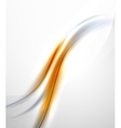Orange wave abstract background vector image