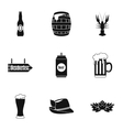 Beer fest icons set simple style vector image
