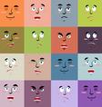Cartoon faces emoji seamless pattern Set texture vector image