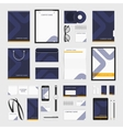 Corporate identity template blue line vector image
