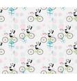 cute baby Panda on bike vector image