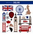 england uk sightseeing landmarks and famous vector image