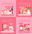 Flat design valentines day gift vector image