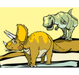 Hunting the Triceratops vector image