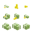 set of icons money vector image