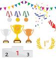 Sport award icon set vector image