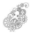 The original of Steampunk octopus vector image