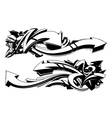 Black and white graffiti backgrounds Vector Image