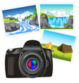 photo camera and picture vector image