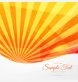 yellow abstract background with rays stripes vector image